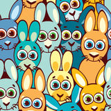 Seamless pattern with rabbits. Childish wallpaper and textile. Stock Photo