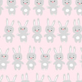 Seamless pattern with  rabbits Stock Photos