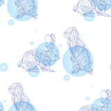 Seamless pattern with rabbits Royalty Free Stock Photo