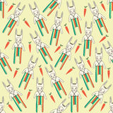 Seamless pattern with rabbits Royalty Free Stock Photos