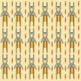 Seamless pattern with rabbits Royalty Free Stock Photography