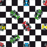 Seamless racing pattern Royalty Free Stock Images