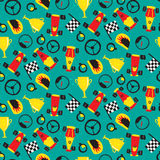 Seamless pattern with racing cars Royalty Free Stock Images
