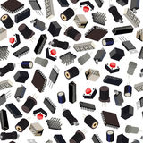 Seamless pattern of the radio components Royalty Free Stock Image