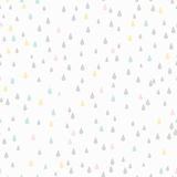 Seamless Pattern. Rain Drop Stock Photo