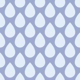 Seamless pattern with rain drops Royalty Free Stock Images