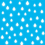 Seamless pattern with rain drops Royalty Free Stock Photo