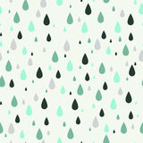 Seamless pattern with rain drops. Can be used to fabric design, wallpaper, decorative paper, web design, etc. Royalty Free Stock Photography