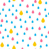 Seamless pattern with rain drops Royalty Free Stock Photos