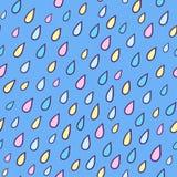 Seamless pattern with rain drops Stock Photos