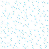 Seamless pattern with rain drops. Water drops isolated on white Stock Photography