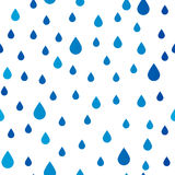 Seamless pattern with rain drops Royalty Free Stock Image