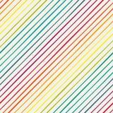 Seamless pattern with rainbow diagonal stripes Stock Photo