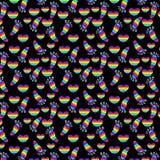 Seamless pattern of rainbow elements. Stock Photo