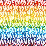 Seamless pattern with rainbow scribble Stock Photo