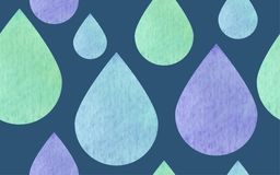Seamless pattern raindrops textured. Vector Royalty Free Stock Photography