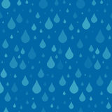 Seamless pattern with raindrops. Royalty Free Stock Image