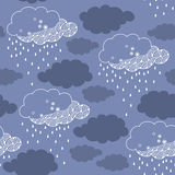 Seamless pattern with rainy cloud Royalty Free Stock Photos