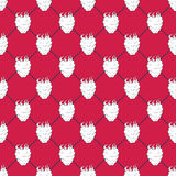 Seamless pattern with raspberries Stock Photography