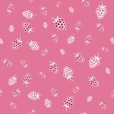 Seamless pattern of raspberries Stock Photos