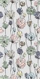 Realistic flowers in pastel colors seamless pattern. 