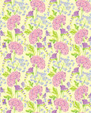 Seamless pattern with Realistic graphic flowers - gardenia and s Royalty Free Stock Images