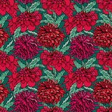 Seamless pattern with Realistic graphic flowers  Royalty Free Stock Images