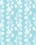 Seamless pattern with Realistic graphic flowers - sweet pea  Royalty Free Stock Image