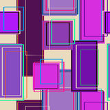 Seamless pattern of rectangles Stock Photos