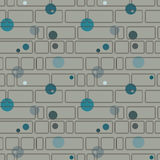 Seamless pattern with rectangles and circles Royalty Free Stock Photography