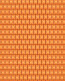 Seamless pattern of rectangles of curved lines. Seamless orange pattern consisting of curved lines, rectangles. Developed for design, artwork, packaging Stock Photo