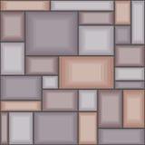 Seamless pattern from rectangular stones. Stock Photo