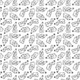 Seamless pattern of recyclable materials Stock Photo