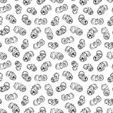 Seamless pattern of recyclable materials Stock Photos