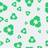 Seamless pattern with recycle icon Royalty Free Stock Photo