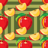 Seamless pattern of red apple Royalty Free Stock Photos