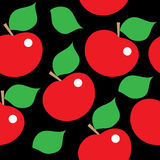 Seamless pattern with red apples Stock Photos