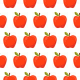 Seamless pattern with red apples Royalty Free Stock Image