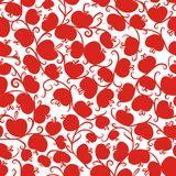 Seamless pattern with red apples for your design Royalty Free Stock Photography