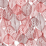 Seamless pattern of red autumnal leaves Royalty Free Stock Photography