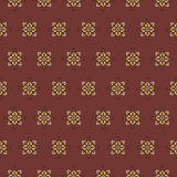 Seamless pattern on a red background Royalty Free Stock Images