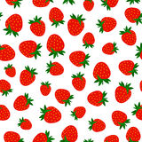 Seamless pattern with red berries stock photo