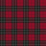 Red and Black Flannel Plaid Seamless Pattern vector illustration