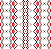 Seamless pattern red-black-white. Royalty Free Stock Photography