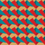 Seamless pattern of red and blue retro Stock Image