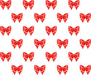 Seamless red bow. Vector illustration - seamless pattern of red bows. No clipping mask. Drag the pattern swatch  in the Swatches panel  and fill objects. EPS 10 Royalty Free Stock Photos