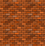 Seamless pattern of red brick with cracks and irregularities. Royalty Free Stock Photos