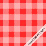 Seamless pattern in red cage. The red tablecloth. Vector illustration Stock Photos