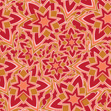 Seamless pattern with red cartoon stars Royalty Free Stock Image