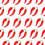 Seamless pattern with red chili peppers Royalty Free Stock Images